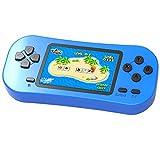 ZHISHAN Consola de Juegos Portátil Retro para Niños Precargado con 218 Videojuegos Clásicos Sistema de Juego Arcade Recargable y con Pantalla de 2.5 Pulgadas (Azul)