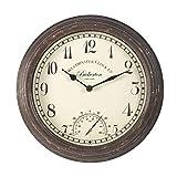 Smart Garden Products 5060000 Reloj bickerton wall clock 12', blanco, 30.5x30.5x5 cm
