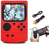 SeeKool Clásica Consola 500 FC Juegos Consola de Juegos Portátil, Pantalla a Color de 3.0 Pulgadas, 800mAh batería Recargable compatibles, 2 Jugadores Soporte, niños y Adultos (Red)
