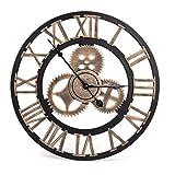 Reloj de Pared Vintage Retro, Reloj de Pared Vintage Estilo Artístico Europeo con Números Romanos, Reloj de Hecho a Mano en 3D Ideal para Decorar el Salón, la Cocina