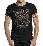Gasoline Bandit Biker Camiseta Original Diseno: Vintage Racer -XL