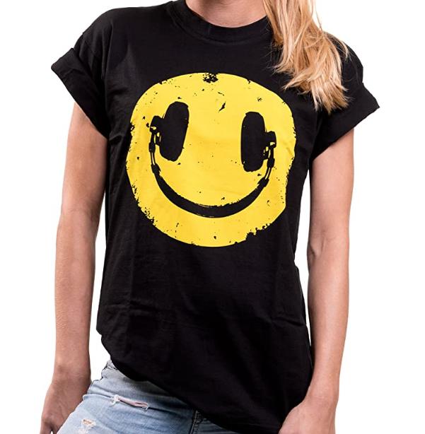 Camiseta de rock para mujer vintage