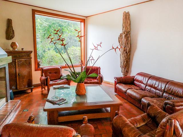 Salón con decoración vintage